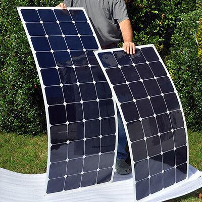 NEW 100W 12v Energy+ Semi Flexible Mono Solar Panel - 100 watt - TUV ISO UK