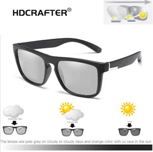 81940d77b365 Image is loading Men-Polarized-Photochromic-Sunglasses-Transition-Lens- Driving-Square-