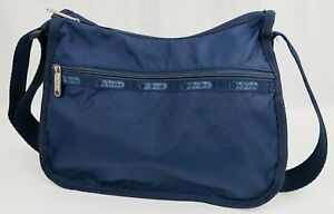 Details About Lesportsac Everyday Bag Expandable Crossbody Navy Blue Free Sh