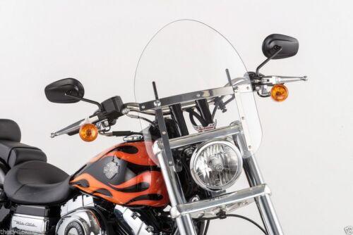 "Small 14/"" Clear Mini Police Windshield Yamaha V-Star XVS 950 /& 1300 VSTAR"