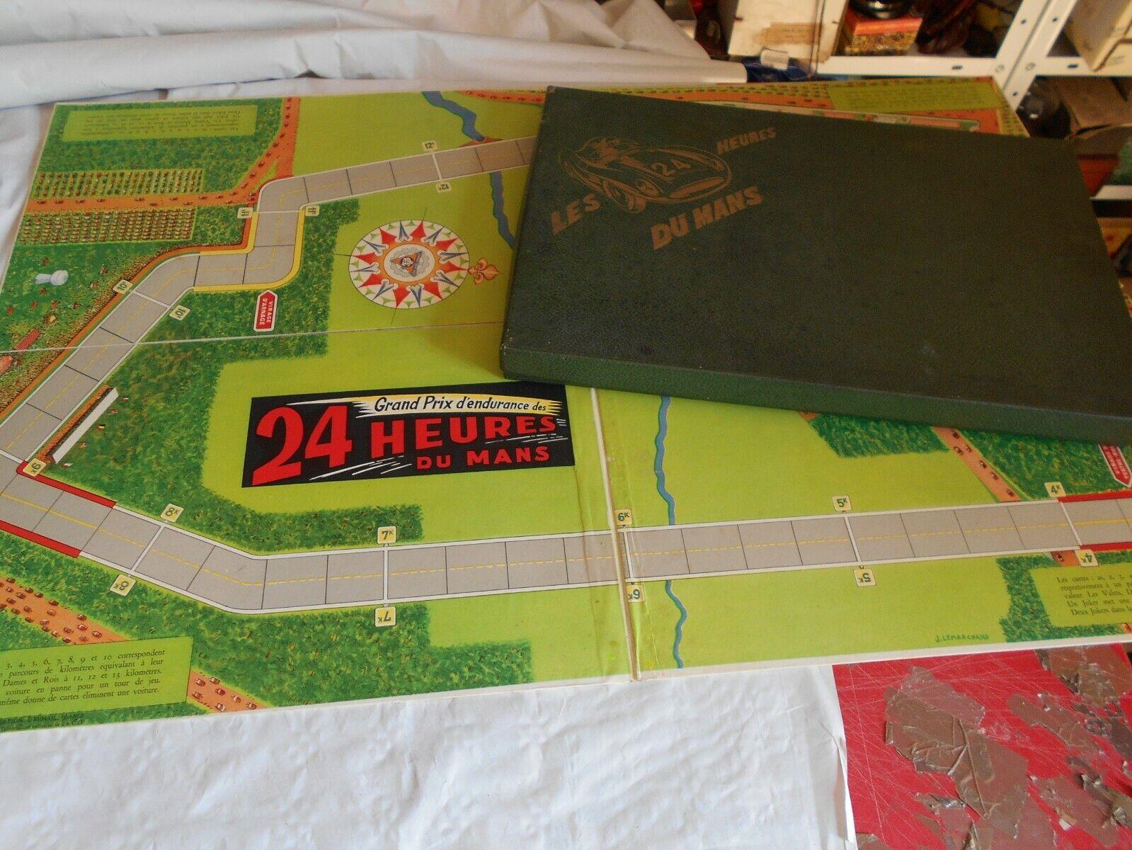 Vintage game Les 25 heures Du Mans 1950s Le Mans racing game french