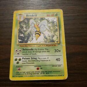 Beedrill 17//102 NM Near Mint Base Set Non-Holo Pokemon TCG Card 1999 WOTC