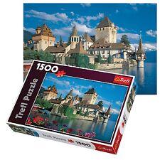 Trefl 1500 Piece Adult Oberhofen Castle Thun Lake Switzerland Jigsaw Puzzle NEW