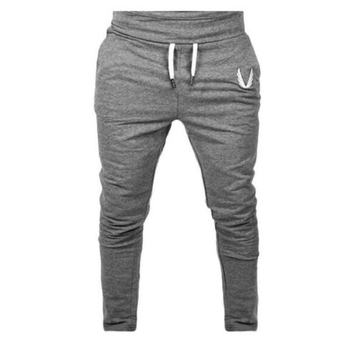 Men Sportswear Long Pants Casual Elastic Fitness Workout Running Gym Trousers I
