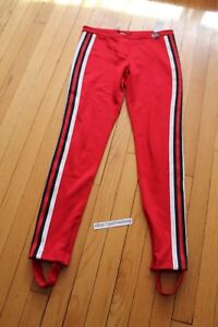 631e7a8ad28 Authentic Gucci Jersey Red Stripe Stirrup Skinny Pants Leggings sz S ...