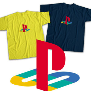Playstation-Classic-Symbol-Title-Video-Gamer-Mens-Womens-Kids-Unisex-Tee-T-Shirt