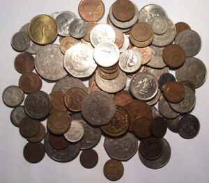 Free S/&H!! Nice Mixed Bulk Lot 45+years old assorted 100 World//Foreign Coins