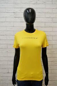 NIKE-DRI-FIT-Maglia-Donna-Taglia-XL-S-Manica-Corta-Shirt-Women-Sport-Jersey-Hemd