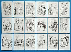 NEW-Set-of-18-Mini-Postcards-Illustrations-from-Pride-and-Prejudice-Jane-Austen