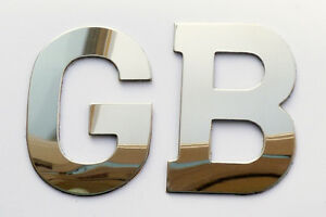 Classic Car Quality Stainless Steel Self Adhesive GB (Great Britain) Boot Badge
