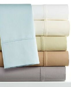 Fine-Linens-Dover-Collection-450-Thread-Count-4-Piece-QUEEN-Sheet-Set-IVORY-S292