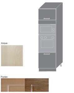 hochschrank f r backofen u mikrowelle k chenschrank 60cm 2 t rig gl d14 ru ebay. Black Bedroom Furniture Sets. Home Design Ideas