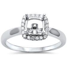 .15cts F VS2 Princess Cut Diamond Semi Mount Engagement Ring Size 6.5
