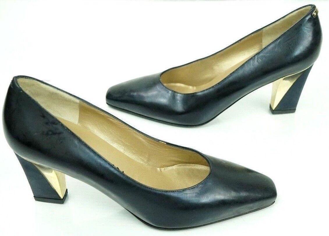vendita con alto sconto St John John John donna nero and oro Kitten Heel Made In  Dimensione 5 1 2 A Pumps  spedizione veloce in tutto il mondo