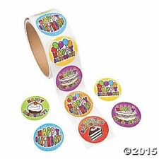 100 Happy Birthday Stickers Party Favors Teacher Supply
