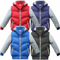 Winter Kids Boys Girls Baby Hooded Warm Quilted Puffer Coat Jacket 2 to 13 years