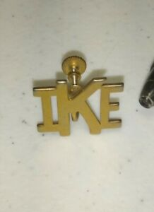 1952 1953 Dwight Eisenhower IKE Lapel PIN campaign Screw Back President Election