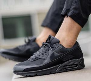 New NIKE Air Max 90 Essential Athletic Sneakers Mens triple black ...
