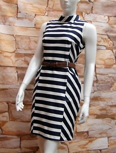 FLORENCE-amp-FRED-NAVY-BLUE-amp-WHITE-STRIPED-COTTON-DRESS-Sizes-6-8-10-12-14-16-20