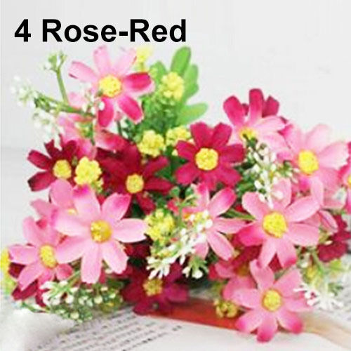 EG/_ 1 Bouquet 28 Heads Dedicated Trendy Fake Daisy Silk Flower Home Wedding Deco