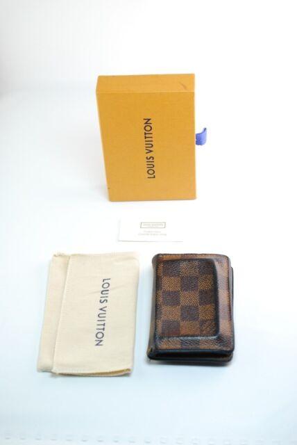 a952cae3f383 Louis Vuitton Damier Ebene De Posh Card Case Wallet Pocket Organiser  Brown Blue