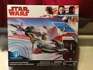 STAR WARS Resistance Ski Speeder Poe Dameron Hasbro Force Link NEW IN BOX SEALED