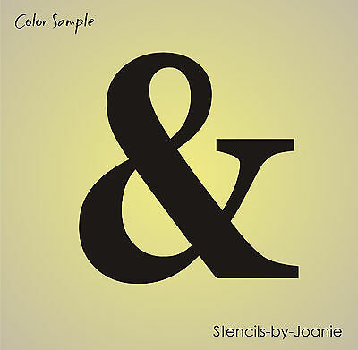 Ampersand Symbol STENCIL Wedding Prop Family Home Decor Bride Mrs Number Sign