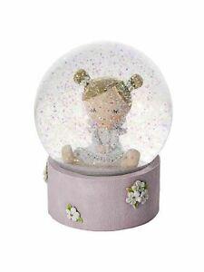 Beautiful Baby Girl Pink Snowglobe Christening New Baby Gift