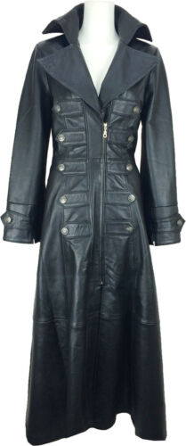 Trench Womens Length Leather Jacket Emo Unicorn Full Real Coat Gothic m5 aEqwHXdx