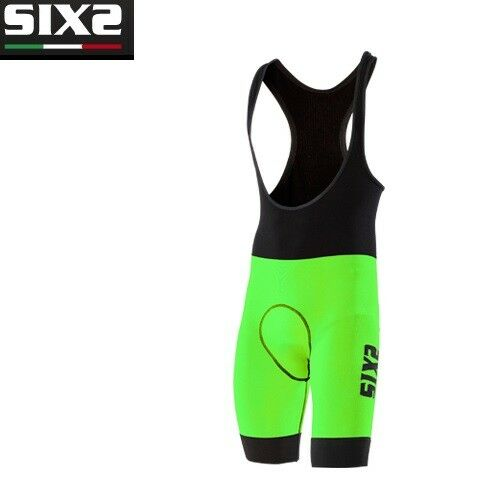 Body Mono Traje  pierna corta Bike Ciclismo Bici SIXS NEGRO verde SLP DE LUJO  varios tamaños