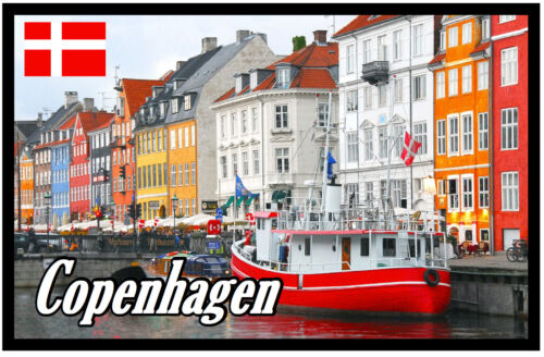 FLAGS // SIGHTS // GIFTS DENMARK SOUVENIR NOVELTY FRIDGE MAGNET COPENHAGEN
