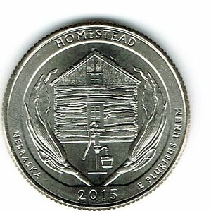 Details about 2015-D Brilliant Uncirculated Homestead Copper-Nickel Clad  Copper Quarter Coin!