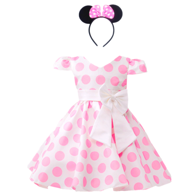 c9797ca7882ccb Dreamhigh Girls Toddlers Polka Dot Skirt Cap Sleeves Flowers Girl ...
