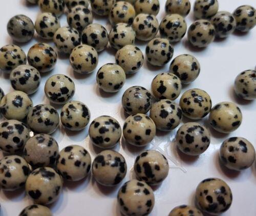 10 perles semi précieuses gemmes JASPE 8mm DALMATIEN ////29