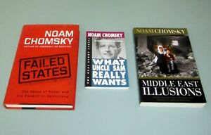 3-Books-NOAM-CHOMSKY-FAILED-STATES-AMERICAN-EMPIRE-MIDDLE-EAST-ILLUSIONS-Israel