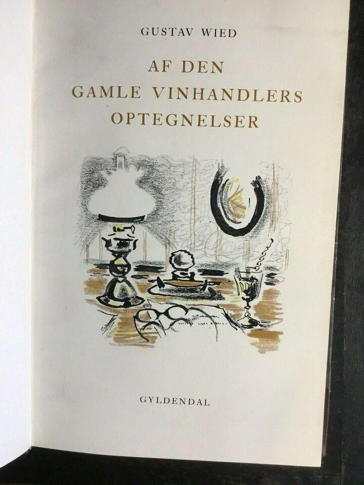 4 bøger af og om , Gustav Wied, genre: biografi