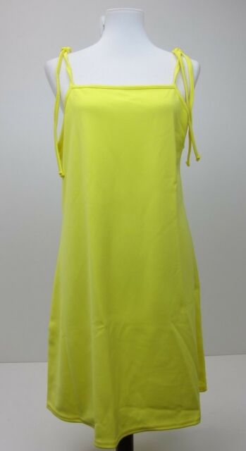 fcaa69f0fa1ce Missguided Women s Tie Strap Cami Shift Dress US 12 Yellow for sale ...