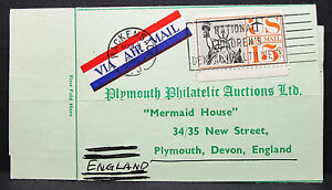 US-Airmail-Adv-Card-Plymouth-Philatelic-Children-039-s-Stamp-USA-Lupo-post-H-7416