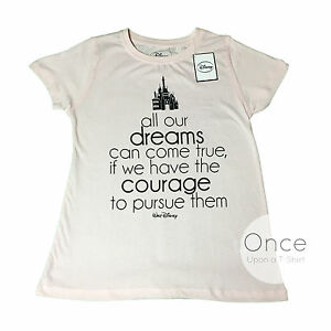 primark official ladies disney quote all our dreams can come true t