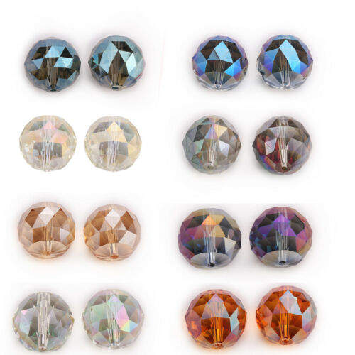 5 Faceted Glass Crystal Round Ball Loose Spacer Beads Charms Lamp Pendants 20mm