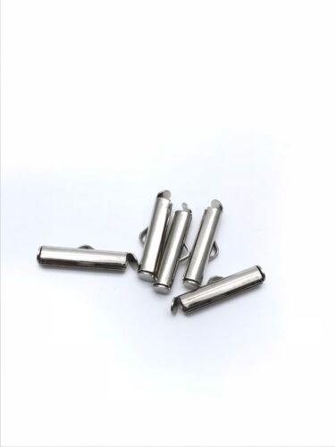 Diapositive Sur Fin Fermoir tubes Slider Embouts apprêts bijoux Or ton argent UK