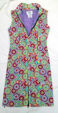 CHANEL MULTICOLOUR SILK ZIPPER DRESS SIZE 36FR, 8 UK