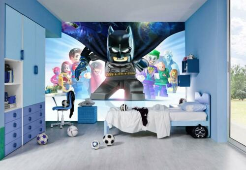 Lego Batman Photo Wallpaper Woven Self-Adhesive Wall Mural Art Kids Room M116