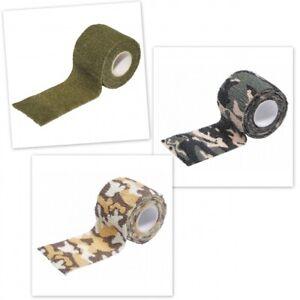 1-76-m-Tarnband-selbsthaftend-4-5-m-Gewebeband-Klebeband-Army-Tape-Isolierband
