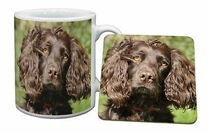Chocolate Cocker Spaniel Dog Mug+Coaster Christmas/Birt<wbr/>hday Gift Idea, AD-SC4MC