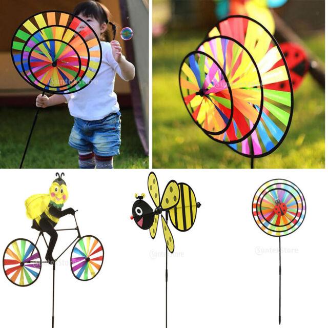 Rainbow Windmills Wind Windsock Wheel Garden Yard Lawn Camping Decor Outdoor Toy