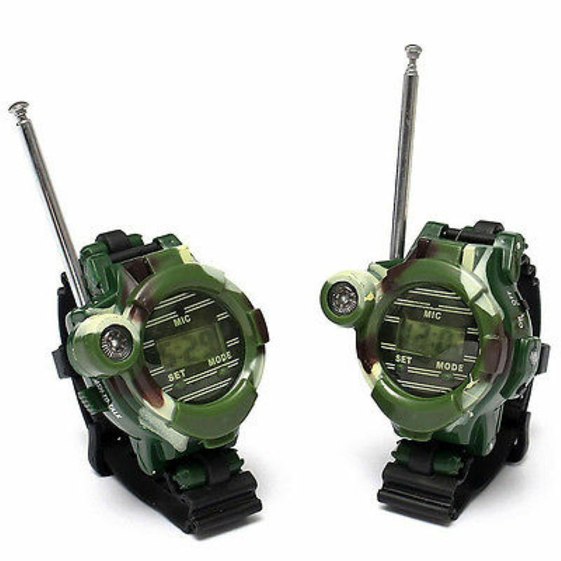 2 of 8 2 Pcs Children Parent Toy wrist Watch walkie talkie kids Intercom Set Outdoor