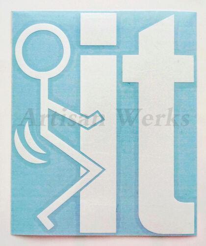 Fu*k-It Funny Vinyl Decal Sticker Screw It Stick Figure car truck window laptop