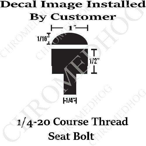 Billet Aluminum LG Knurled Seat Bolt for 96-17 Harley Scorpio Scorpion Black