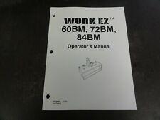 Work Ez 60bm 72bm 84bm Box Blade Operators Manual 84148921